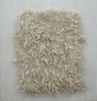 kunst-minimalisme-wandobject met witte veren-Henk Peeters-3.jp