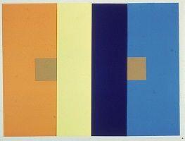 kunst-minimalisme-schilderij blauw met bruin-josef albers-7.jpg