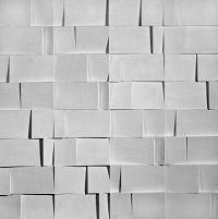 kunst-minimalisme-wit karton wandobject van jaap egmond-1.jpg